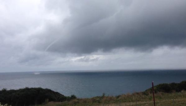 Une Trombe Marine observée à Hendaye