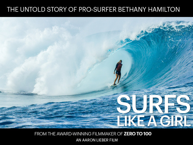 bethany hamilton surfs like a girl