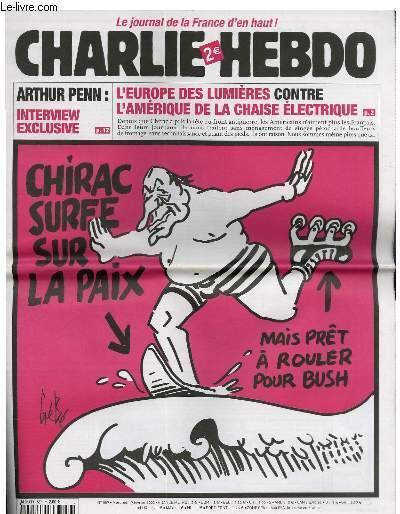 charlie hebdo chirac surfe sur la paix