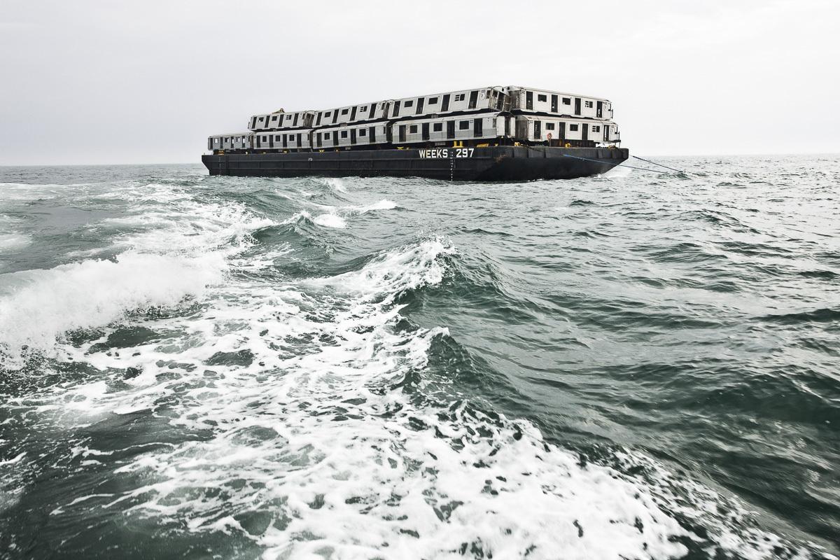 Des Wagons de Métro jetés dans l'Océan