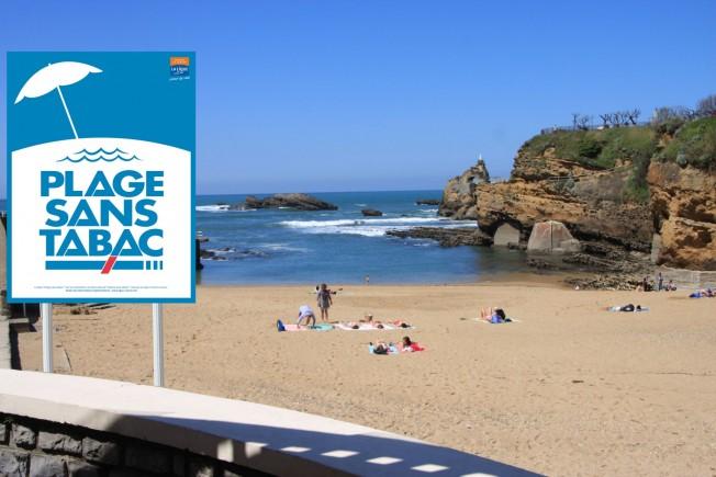plage sans tabac biarritz