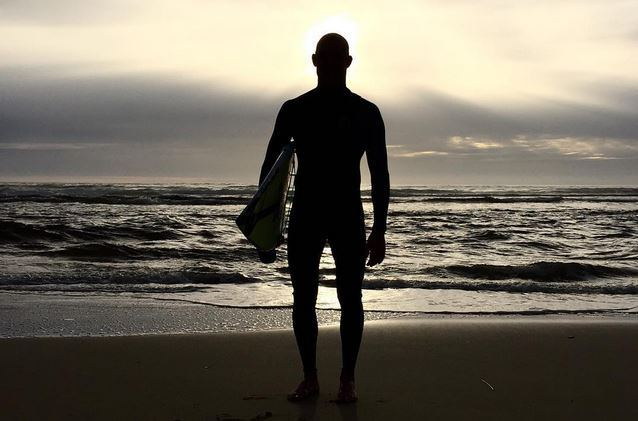 mick fanning back in the water