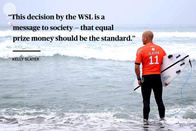 WSL : les Surfeuses seront payées autant que  les Surfeurs !